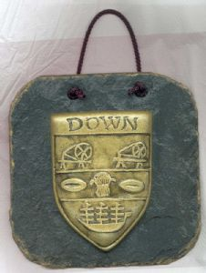 Down County Crest Gaelic slate plaque